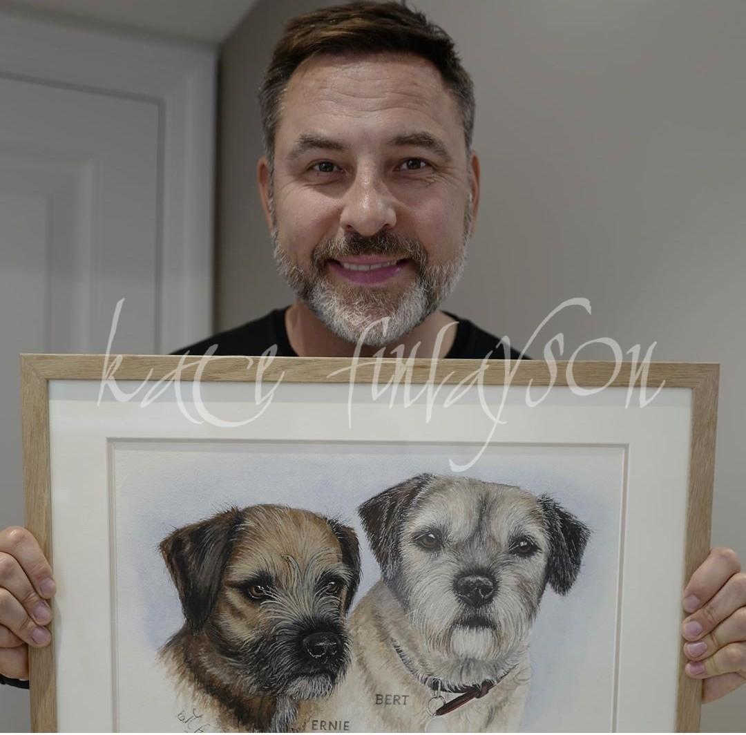 David Walliams and his Dogs
