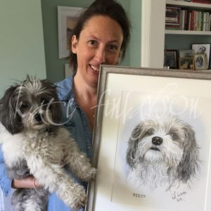 Miranda Hart And Peggy Her Dog